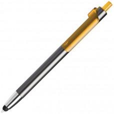 PIANO TOUCH, ручка шариковая со стилусом для сенсорных экранов, графит/желтый, металл/пластик