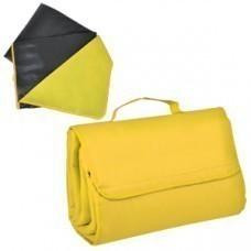 """Коврик для пикника """"SUNDAY"""" Жёлтый,600 D полиэстер+флис+водоотталкивающее покрытие,150*135 см"""