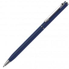 SLIM, ручка шариковая, синий матовый/хром, металл