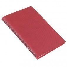 Ежедневник недатированный Foggy, А5,  бордовый, кремовый блок, без обреза