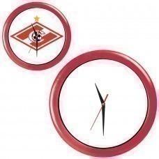 """Часы настенные """"ПРОМО"""" разборные ; красный, D28,5 см; пластик/стекло"""