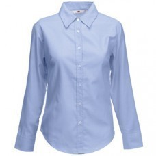 "Рубашка ""Lady-Fit Long Sleeve Oxford Shirt"", светло-голубой_M, 70% х/б, 30% п/э, 135 г/м2"