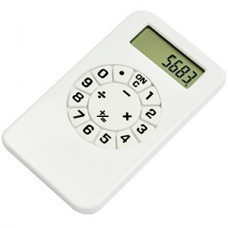 Калькулятор; белый; 5,8х10,2х0,8 см; пластик; тампопечать