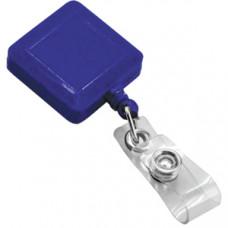 Держатель для бейджа, магнитной карты; синий; 3,2х3,2х0,8 см, длина шнура 90 см; пластик; тампопечат
