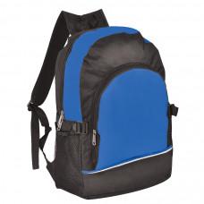Рюкзак. ярко-синий с чёрным, 30х42х13, Полиэстер 600D+1680D, шелкография