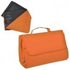 """Коврик для пикника """"SUNDAY"""". Оранжевый,600 D полиэстер+флис+водоотталкивающее покрытие,150*135 см"""