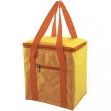 Сумка-холодильник, 5,7 л; желтый; 20,7х11,8х23,5 см (5,7 л); полиэстер; шелкография
