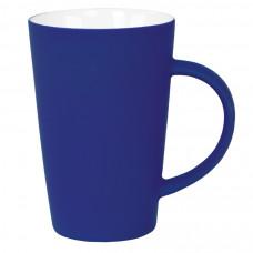 """Кружка """"Tioman"""" с прорезиненным покрытием, синий, 320 мл, фарфор"""