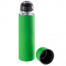 """Термос вакуумный """"Flask"""",сталь с покрытием софт тач, зеленый, 500 мл."""