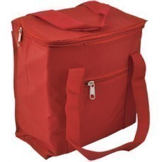 Сумка-холодильник, 5,7 л; красный; 20,7х11,8х23,5 см (5,7 л); полиэстер; шелкография