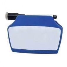 Клип на магните с доской и маркером; синий; 9х12,4х2,5 см; пластик; тампопечать