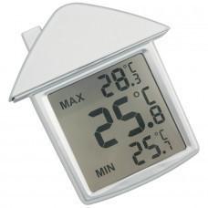 "Термометр на присоске ""Дом""; 9х10х2,8 см; пластик; тампопечать"
