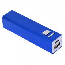 """Универсальное зарядное устройство """"Thazer"""" (2200 mAh), синий, 9,4х2,2х2,2 см, металл"""