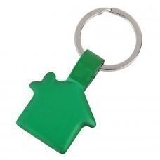 "Брелок ""Дом"",зеленый,3,5х3х0,2см,металл"