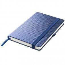 Ежедневник недатированный Barry, А5,  темно-синий металлик, кремовый блок, без обреза