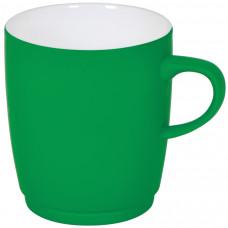 """Кружка """"Soft"""" с прорезиненным покрытием, зеленая, 350 мл, фарфор"""