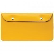 """Бумажник дорожный """"HAPPY TRAVEL"""", желтый, 23.5*12.5 см, ПВХ, шелкография"""