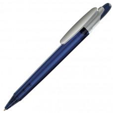 OTTO FROST SAT, ручка шариковая, фростированный синий/серебристый клип, пластик