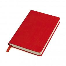 """Бизнес-блокнот """"URBAN"""", 130 × 210 мм, красный,  мягкая обложка,  блок-линейка, тиснение"""