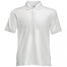 "Поло ""Slim Fit Polo"", белый_S, 97% х/б, 3% эластан, 210 г/м2"