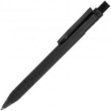 TOWER, ручка шариковая с грипом, черный, металл/прорезиненная поверхность