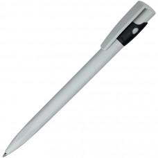 KIKI ECOLINE, ручка шариковая, серый/черный, экопластик