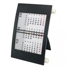 Календарь настольный на 2 года; черный с белым; 18х11 см; пластик; тампопечать, шелкография