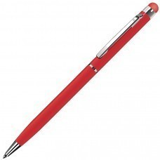 TOUCHWRITER, ручка шариковая со стилусом для сенсорных экранов, красный/хром, металл