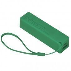 """Универсальное зарядное устройство """"Keox"""" (2000mAh), зеленый, 9,7х2,6х2,3 см,пластик"""