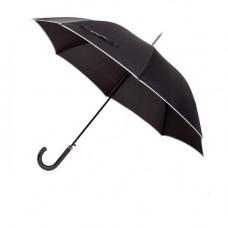 Зонт-трость ROYAL,черный, эпонж, пластик