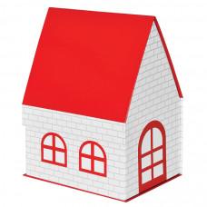 """Коробка подарочная """"ДОМ""""  складная,  красная,  15*21*27 см,  кашированный картон, тиснение"""