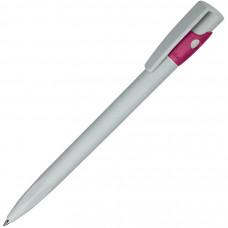 KIKI ECOLINE, ручка шариковая, серый/розовый, экопластик