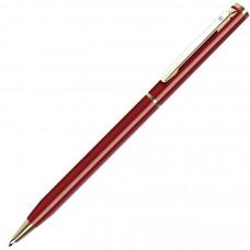 SLIM, ручка шариковая, бордо/золотистый, металл
