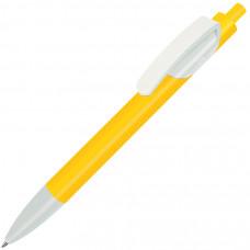 TRIS, ручка шариковая, желтый/белый, пластик