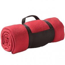 """Плед """"Color""""; красный; 130х150 см; флис 220 гр/м2; шелкография, вышивка"""