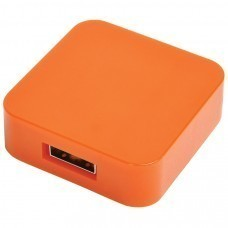 "USB flash-карта ""Akor"" (8Гб),оранжевая, 4х4х1,3см,пластик"