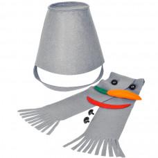 "Набор для лепки снеговика  ""Улыбка"", серый, фетр/флис/пластик"