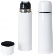 "Термос ""WHITE"" 750 мл; белый;  металл; лазерная гравировка, тампопечать"