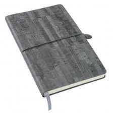 Ежедневник недатированный Woody, А5,  темно-серый, кремовый блок, без обреза