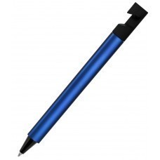 N5, ручка шариковая, синий/черный, пластик, металлизир. напыление, подставка для смартфона