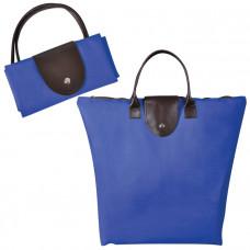 """Сумка для шопинга, """"Glam UP"""" ярко синий, 39х29х7, Полиэстер 600D, иск кожа"""