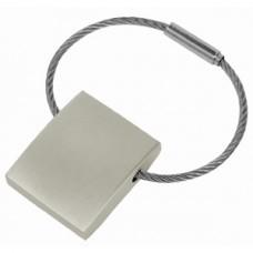 Брелок с тросиком; 3х2,5х0,7 см; металл; лазерная гравировка