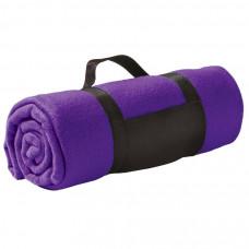 """Плед """"Color""""; фиолетовый; 130х150 см; флис 220 гр/м2; шелкография, вышивка"""