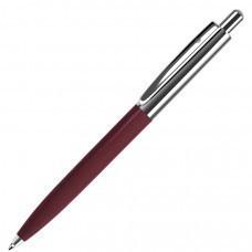 BUSINESS, ручка шариковая, бордо/серебристый, металл/пластик
