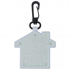 """Светоотражатель с фонариком на карабине """"Дом"""", белый, 5,2х5,5х1,1см, пластик"""