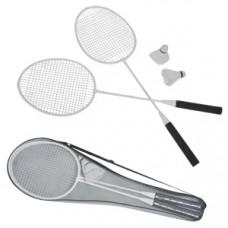 Набор для бадминтона в чехле: 2 ракетки, 2 волана; длина 67 см; нетканый материал, металл, пластик