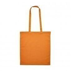 """Сумка для покупок из хлопка """"Eco""""; оранжевый; 38х42 см, длина ручек 70 см."""