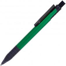 TOWER, ручка шариковая с грипом, зеленый/черный, металл/прорезиненная поверхность