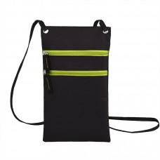 """Сумка для дорожных документов """"ACTIVE"""" с длинным  ремешком , зеленый, 17х30см, полиэстер,  шелк"""