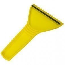 Скребок автомобильный; желтый; 11х17,5 см; пластик; тампопечать, шелкография